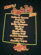 rare Jingle Ball Fest Brittany Spears Beyonce t shirt L New hip hop disco pop