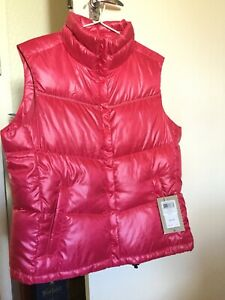 Columbia Pink Women's Down Vest, Cordelia, Large