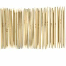 """11 Sets 5pcs 4.9"""" Bamboo Knitted Gloves Knitting Needles 2,0 - 5,0 mm"""