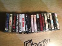 Lot Of 18 1980's Cassettes Madonna Styx Billy Joel Reo Van Halen Clapton