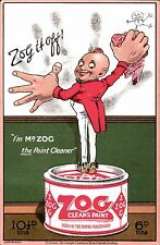 Advertising. Zog, The Paint Cleaner. I'm Mr Zog. Used in the Royal Household.