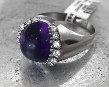 Wunderschöner Ring 750 Weißgold Amethyst Diamanten Größe 63