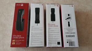 1 Stück Doro 901c Telefon mit Schnur Schwarz mit Wandhalterung Analog Festnetz