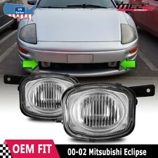 For Mitsubishi Eclipse 2000-2002 Factory Replacement Fit Fog Lights Clear Lens