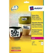 Avery L4774-20 Extra-Strong Adhesive Heavy Duty Weatherproof Labels, 4...