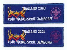2003 World Scout Jamboree Official Participants Patch SET (2 Varieties) ~ RARE