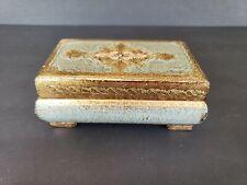 """Vintage Italian Florentine Jewelry / Trinket Box - 61/2"""" x 4"""""""