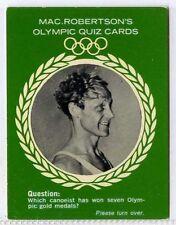 (Gm308-100) RARE, MacRobertsons, Gert Fredriksson, Olympic Quiz 1964 VG-EX