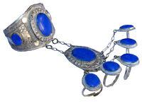 orient afghan nomaden tribal Armreif handschmuck Bracelet hand jewelry Lapis