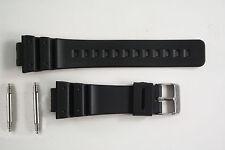 Watchband Black Rubber 2 pin FITS Casio G-Shock DW-6600 DW-6900B GW-6900 G-6900