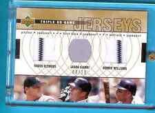 2002 Upper Deck Triple UD Game Jerseys R.Clemens J.Giambi B.Williams Yankees