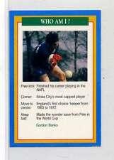 (Jm865-100) RARE,Q.O.S Who Am I ,Gordon Banks ,Soccer 1994 MINT