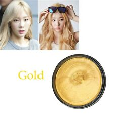 8 Colors Unisex Hair Color Wax Mud Dye Cream Temporary Modeling Mascara DIY Gold