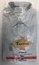 Tarleton Dress Shirt LS Size 15 X 32 Vtg 60s NW NOS Deadstock Blue Pinstripe