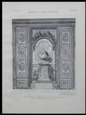CHATEAU VERSAILLES, SALON DIANE- 1899 - 2 PLANCHES ARCHITECTURE - MARCEL LAMBERT