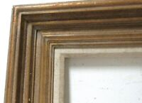 ART DECO  GILDED /  WHITEWASH WOOD FRAME FOR PAINTING  24  x 20  INCH