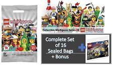 LEGO 71027 series 20 Minifigures Set of 16 Sealed + 30453 Captain Marvel Polybag