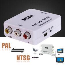 PAL/NTSC to PAL/NTSC Bi-directional TV Format System Converter Box Adapter Nuevo