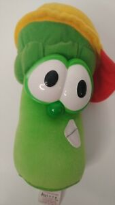 """Veggie Tales Fisher Price Jr. Asparagus Plush Stand Up 8"""" Toy"""