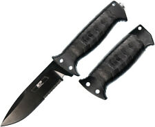 Smith & Wesson Grip Swap Military & Police Black Fixed Blade Knife 1085887