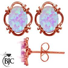 Echter Edelsteine-Ohrschmuck mit Opal und Butterfly-Verschluss für Damen