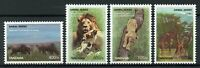 Tanzania Wild Animals Stamps 2008 MNH Animal Series Lions Giraffes Zebras 4v Set