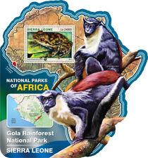 Sierra Leone 2016 MNH Gola Rainforest National Park 1v S/S Frogs Monkeys Stamps