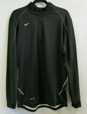 *NWT* NIKE DRI-FIT Mens Black Long Sleeve 1/4 Zip Pullover Jacket - M