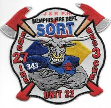 """Memphis  Engine-27 / Rescue - 3 """"S.O.R.T."""", TN (4.5"""" x 4"""" size) fire patch"""