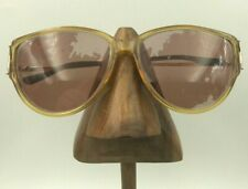Vintage Christian Dior Honey Yellow Gold Transparent Oval Sunglasses Frames