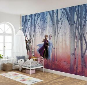 Home Interior Decor Girly Bedroom Wall Mural Disney Frozen photo wallpaper Elsa