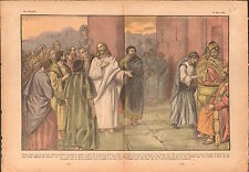 Candlemas the widow Jesus Christ Temple Jerusalem Biblical 1936 ILLUSTRATION