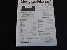 Original Service Manual Technics ST-CH510