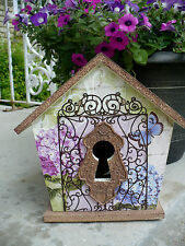 Secret Wood Bird House Floral Key Design Opening Wood Scroll Discover Nature New