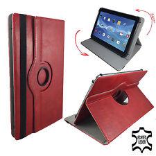 Leder Tablet Tasche - ACER Aspire Switch 10 E  - 360° Rot Echtleder 10 Zoll