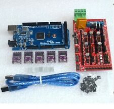 Arduino Mega 2560 R3 + RAMPS 1.4 control panel + 5pcs DRV8825 Stepper driver.