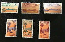 French Somaliland Côte des Somalis Stamps Scenes 1945  Unused Mint MLH