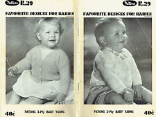 PATONS R29 ~*FAVOURITE DESIGNS FOR BABY* KNIT & CROCHET, BEAUTIFUL 3PLY DESIGNS