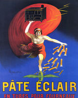Print Poster Vintage Ad Pate Eclair French  Canvas  Framed