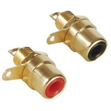 Gold RCA Jack Solder Type with Nut Pair