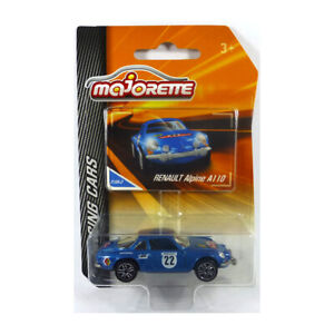 Majorette 212084009 Renault Alpine A110 #22 Blue Racing Cars 1:64 / 3 Inch New °