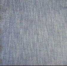 "58"" Blue Denim Wash Cotton Chambray Fashion Fabric Light Weight By The Yard"