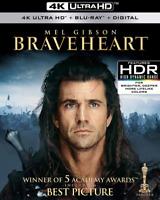 New Sealed Braveheart 4K Ultra HD + Blu-ray + Digital