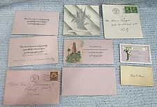 Collection 1935 Antique Sympathy Cards Vintage Envelopes Related Paper FREE S/H