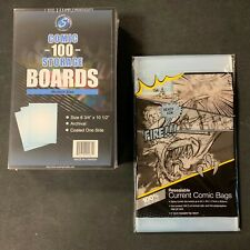 100 Ultra Pro Current Comic Book Resealable Storage Bags And Boards Modern New