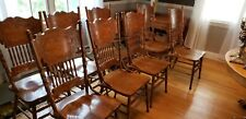 Vintage Oak Pressed Back Dining Chairs,Only 2 left! $50. 00 EA