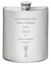 Italy 1934 Fifa World Cup Winner 6oz Drinks Hip Flask Pewter
