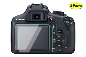 T7 T6 Screen Protector 9H Tempered Glass for Canon EOS Rebel T7 T6 Camera(2Pack)