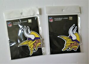 TWO (2) MINNESOTA VIKINGS, FLEXIBLE  MAGNETS FROM WINCRAFT