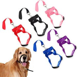 Pet Pulling Halter Nylon Dog Muzzle Anti Barking Dogs Head Collar Training